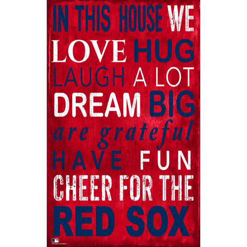 Red Sox In This House Wall Décor.