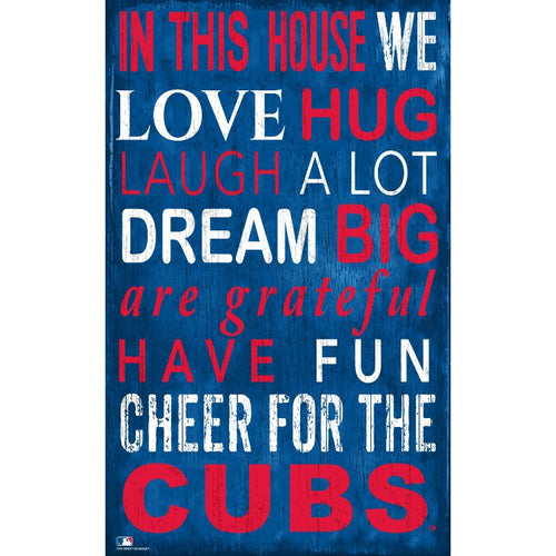 Cubs In This House Wall Décor.