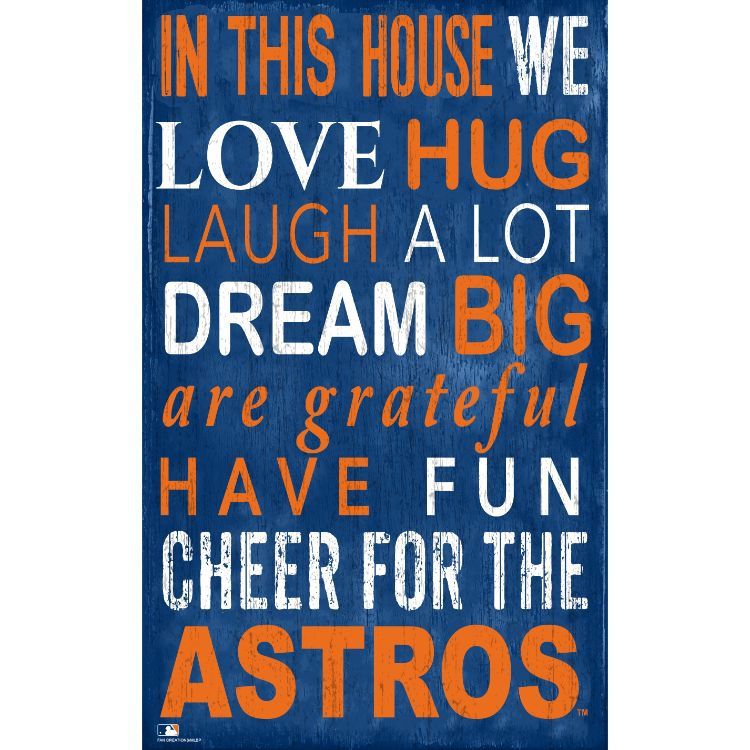 Astros In This House Wall Décor.