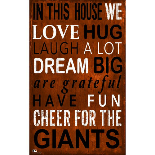SF Giants In This House Wall Décor.