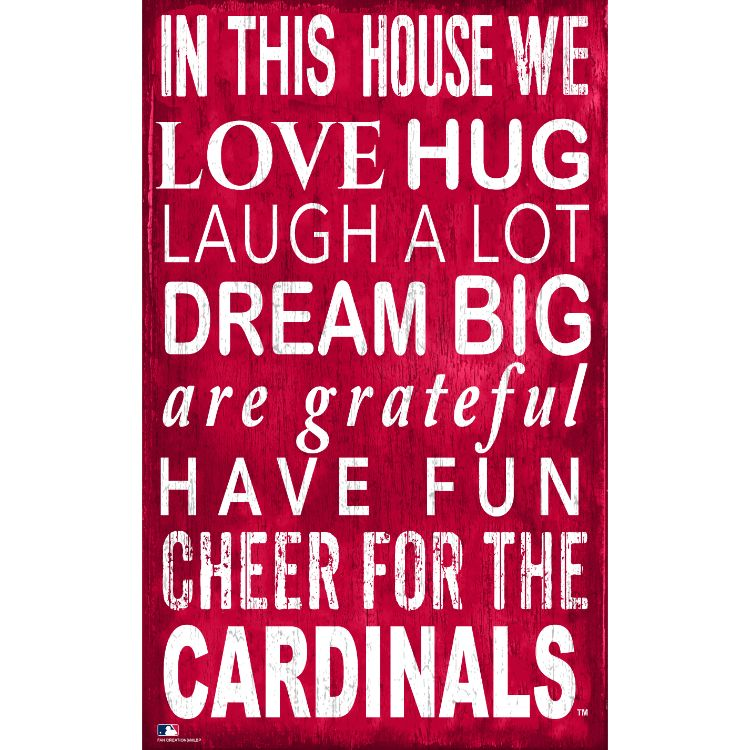 St. Louis Cardinals In This House Wall Décor.