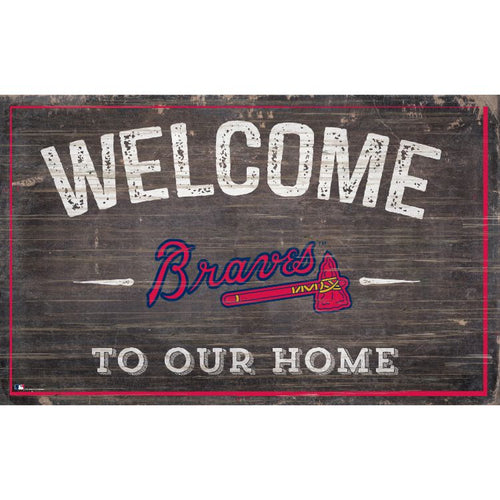 Braves Welcome to Our Home Wall Décor.