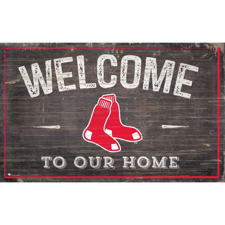 Red Sox Welcome to Our Home Wall Décor.