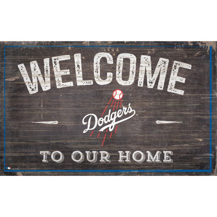Dodgers Welcome to Our Home Wall Décor.