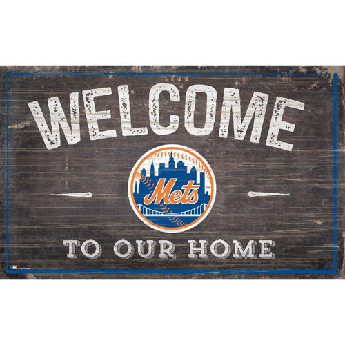 Mets Welcome to Our Home Wall Décor.