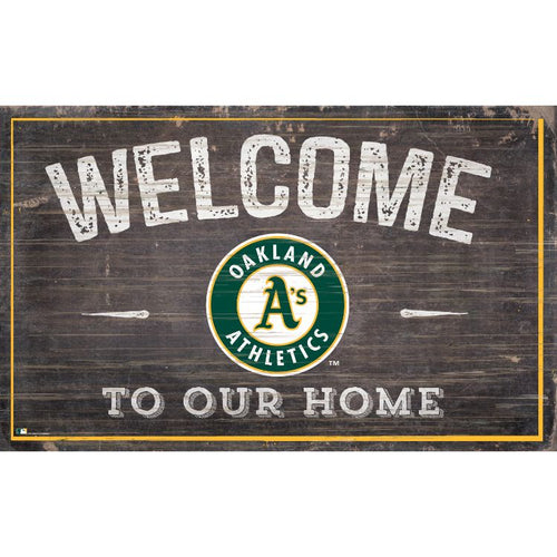 Oakland A's Welcome to Our Home Wall Décor.