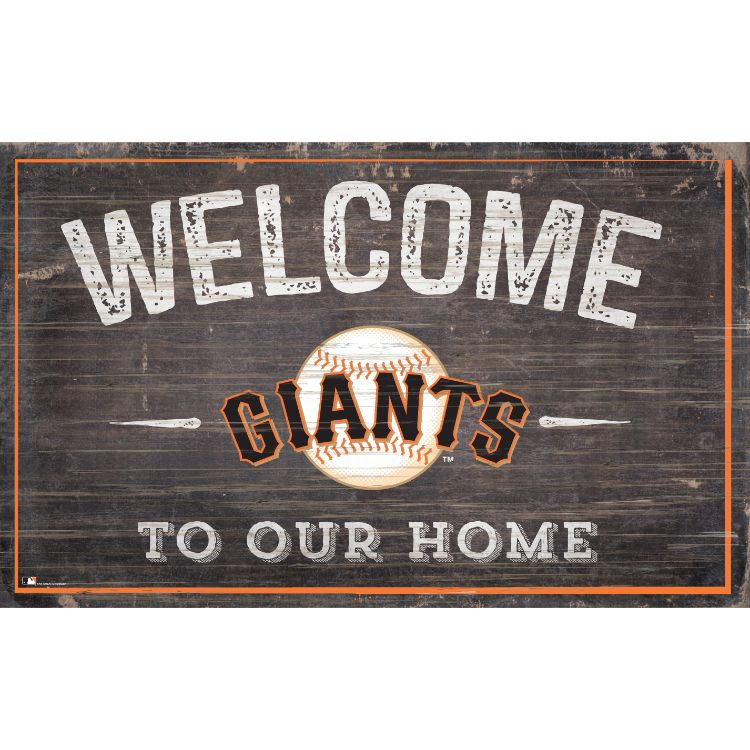 San Francisco Giants Welcome to Our Home Wall Décor.