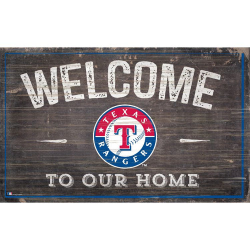 Rangers Welcome to Our Home Wall Décor.