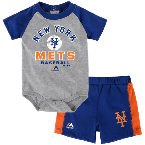 Mets Baby Classic Onesie with Shorts Set