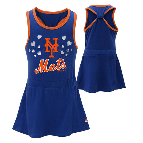Mets Toddler Girl Criss Cross Tank Dress