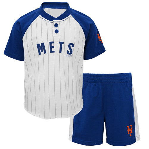 Mets Boy Short Sleeve Shirt and Shorts Set