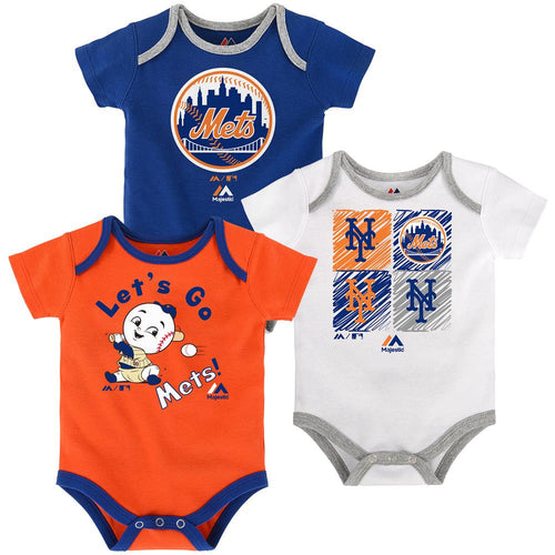 Go Mets Creeper 3-Pack
