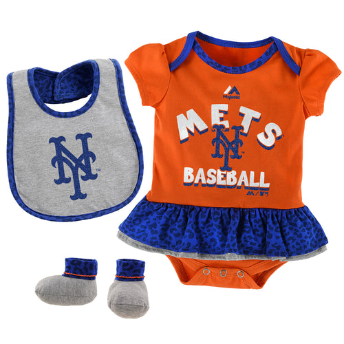 Sweet Mets Fan Bodysuit, Bib and bootie