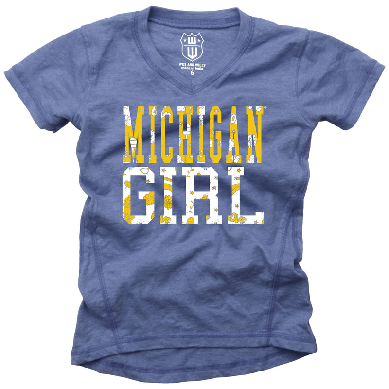 Michigan Girl Blended V-Neck Tunic