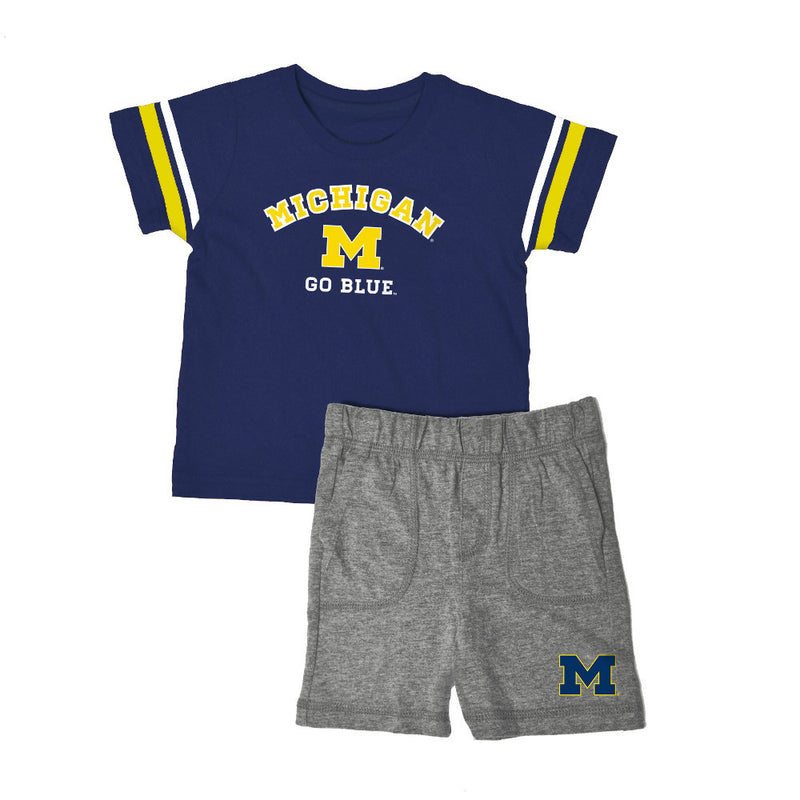 Michigan Knit Tee Shirt and Shorts
