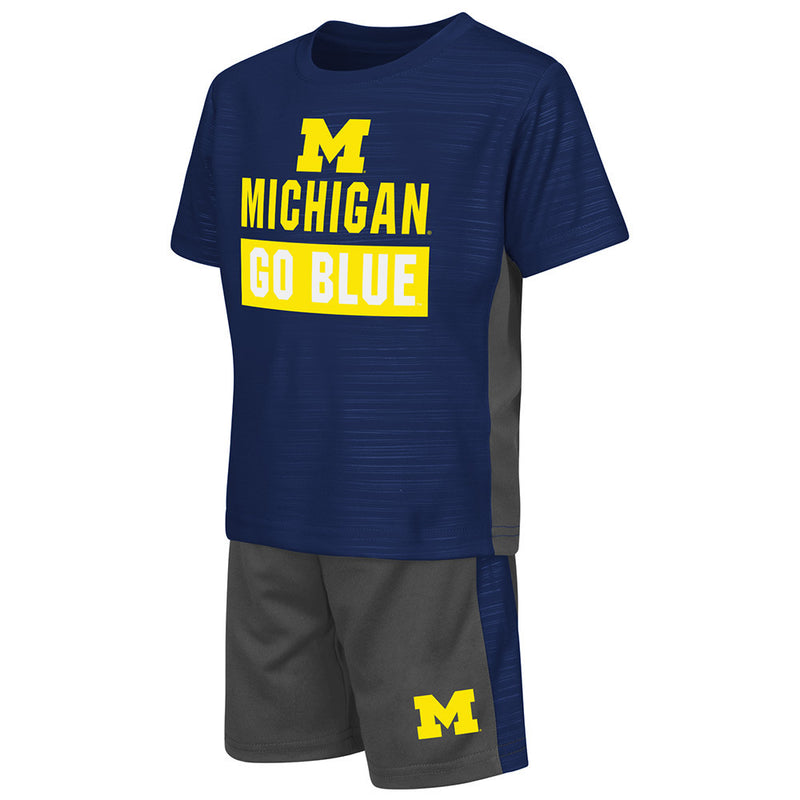 Michigan Active Shirt and Shorts Set