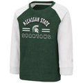Michigan State Spartans Long Sleeve Raglan Shirt