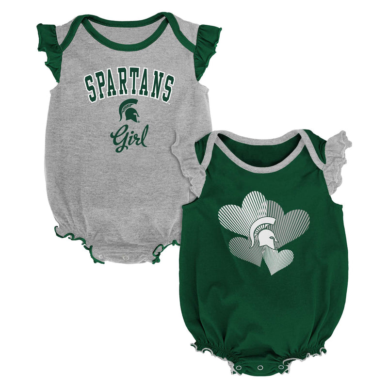 Michigan State Ruffled Bodysuit Set