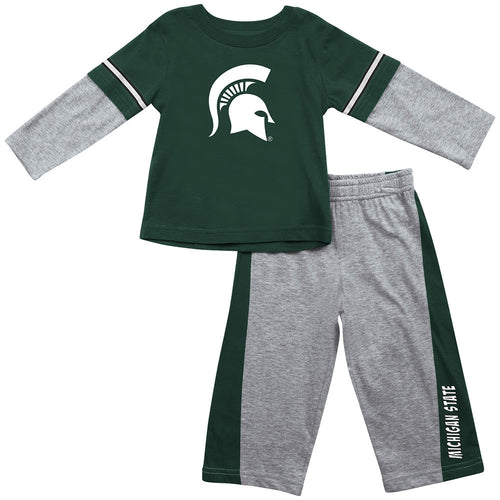 Michigan State Infant Long Sleeve Tee and Pants