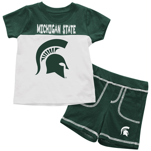 Spartans Infant Mascot Shorts and Tee Set