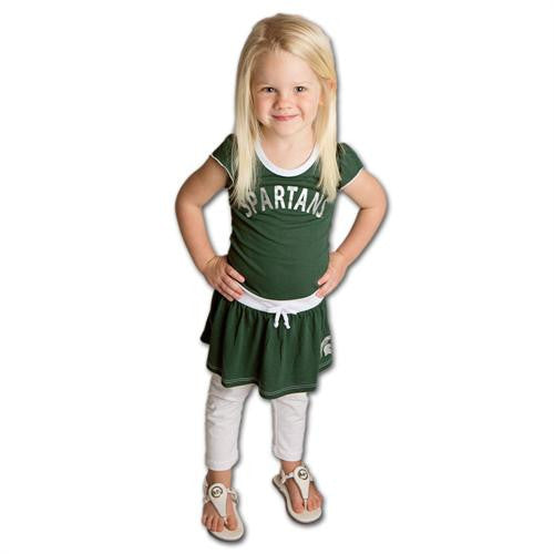 Spartans Tot Tie Front Dress