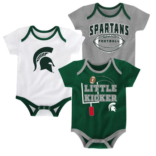 Michigan State Little Kicker Onesie 3-Pack