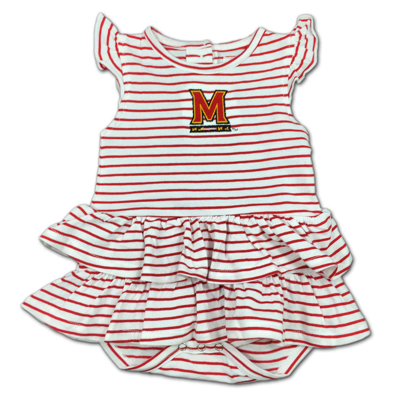 Maryland Stripes 'n Ruffles Skirted Romper