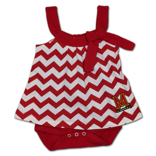 Maryland Girl Chevron Print Romper