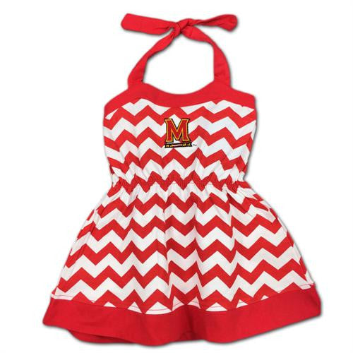 Maryland Girl Chevron Print Halter Sundress