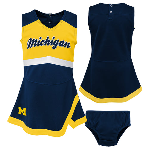 Michigan Wolverines Infant Cheerleader Dress