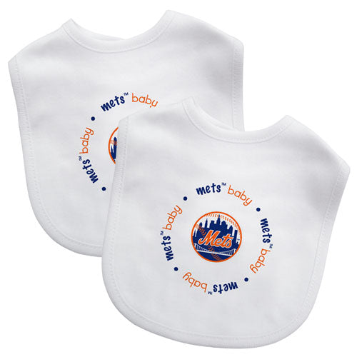 Embroidered Mets Baby Bibs (2-Pack)