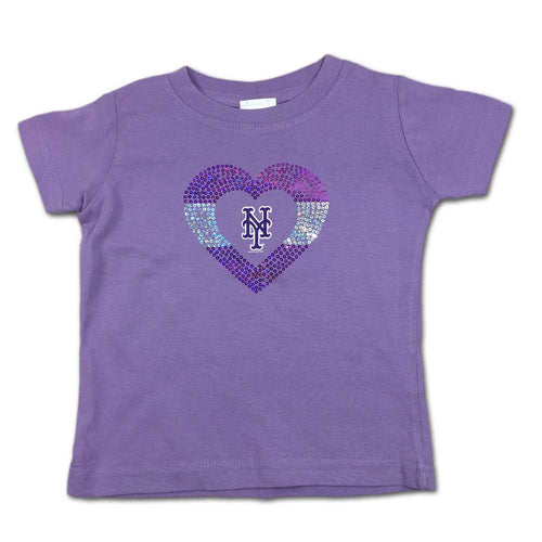 Sparkly Heart Lavender Mets Tee