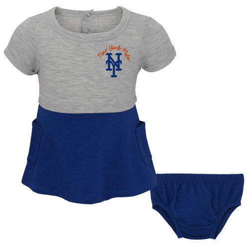 Mets Team Babydoll Shirt and Diaper Cover Set