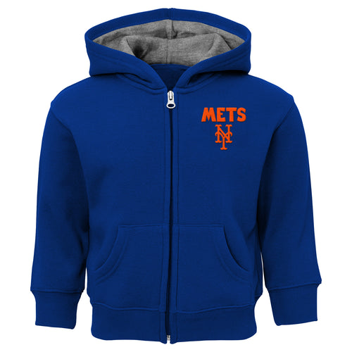 Mets Zip Up Hooded Sweatshirt