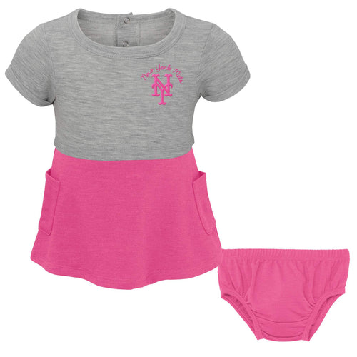 Mets Babydoll Shirt and Diaper Cover Set