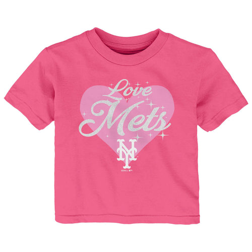Love the Mets Pink Short Sleeve Tee