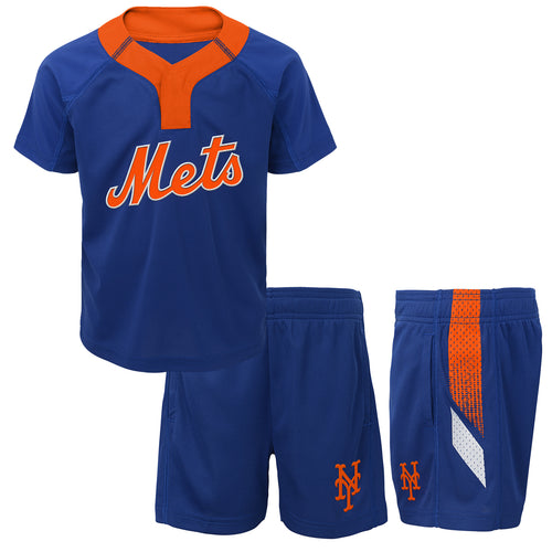 Mets Boy Performance Shirt and Shorts Set