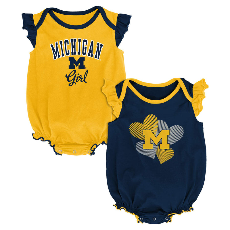 Michigan Ruffled Bodysuit Set