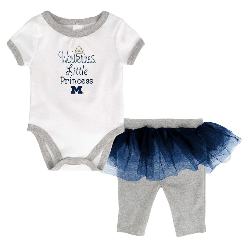 Michigan Princess Bodysuit with Tutu Leggings