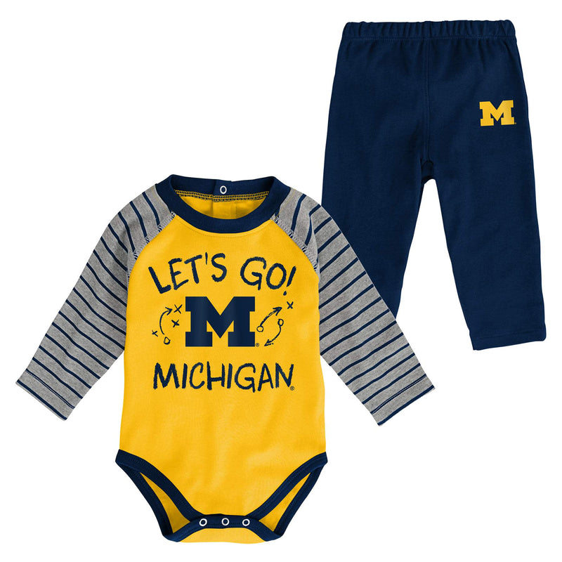 Michigan Long Sleeve Bodysuit and Pants
