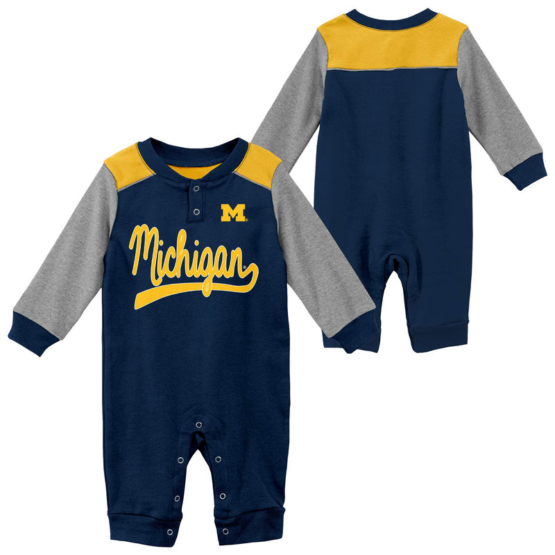 Michigan Game Time Long Sleeve Coverall