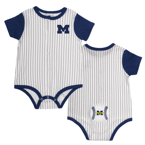 Michigan Baby Boy Baseball Creeper