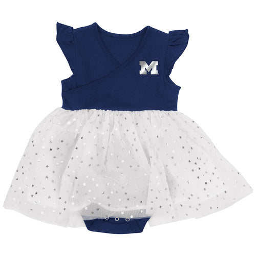 Michigan Baby Girl Tutu Bodysuit Dress