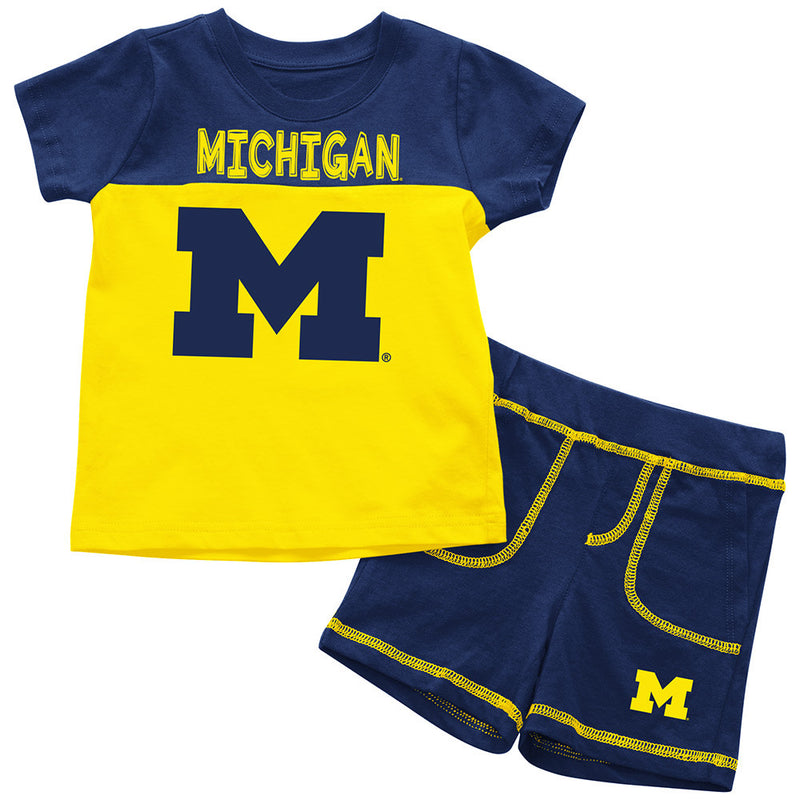 Wolverines Infant Mascot Shorts and Tee Set