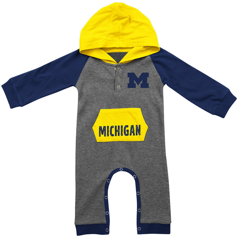 Michigan Thermal Hooded Romper