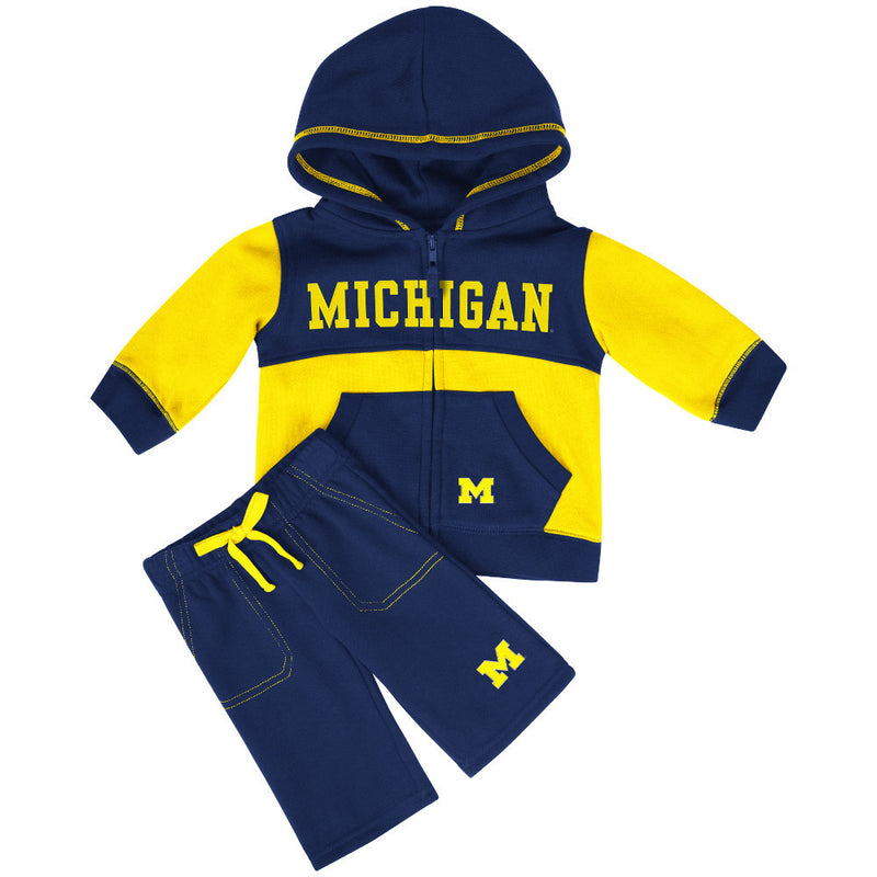 Wolverines Baby Color Block Fleece Set