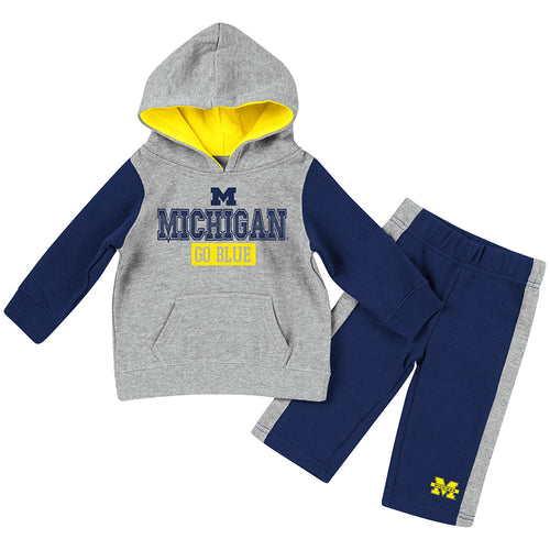 Michigan Little Fan Hoodie Set