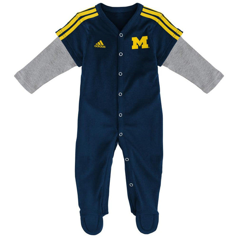 Michigan Infant Layered Sleeve Jersey Coverall