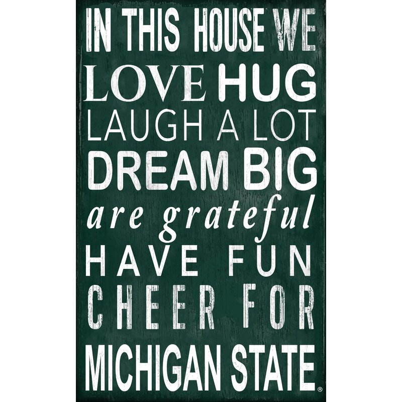 Michigan State In This House Wall Décor.