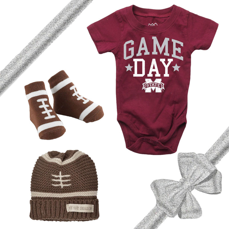 Mississippi State Bulldogs Baby Gift Set